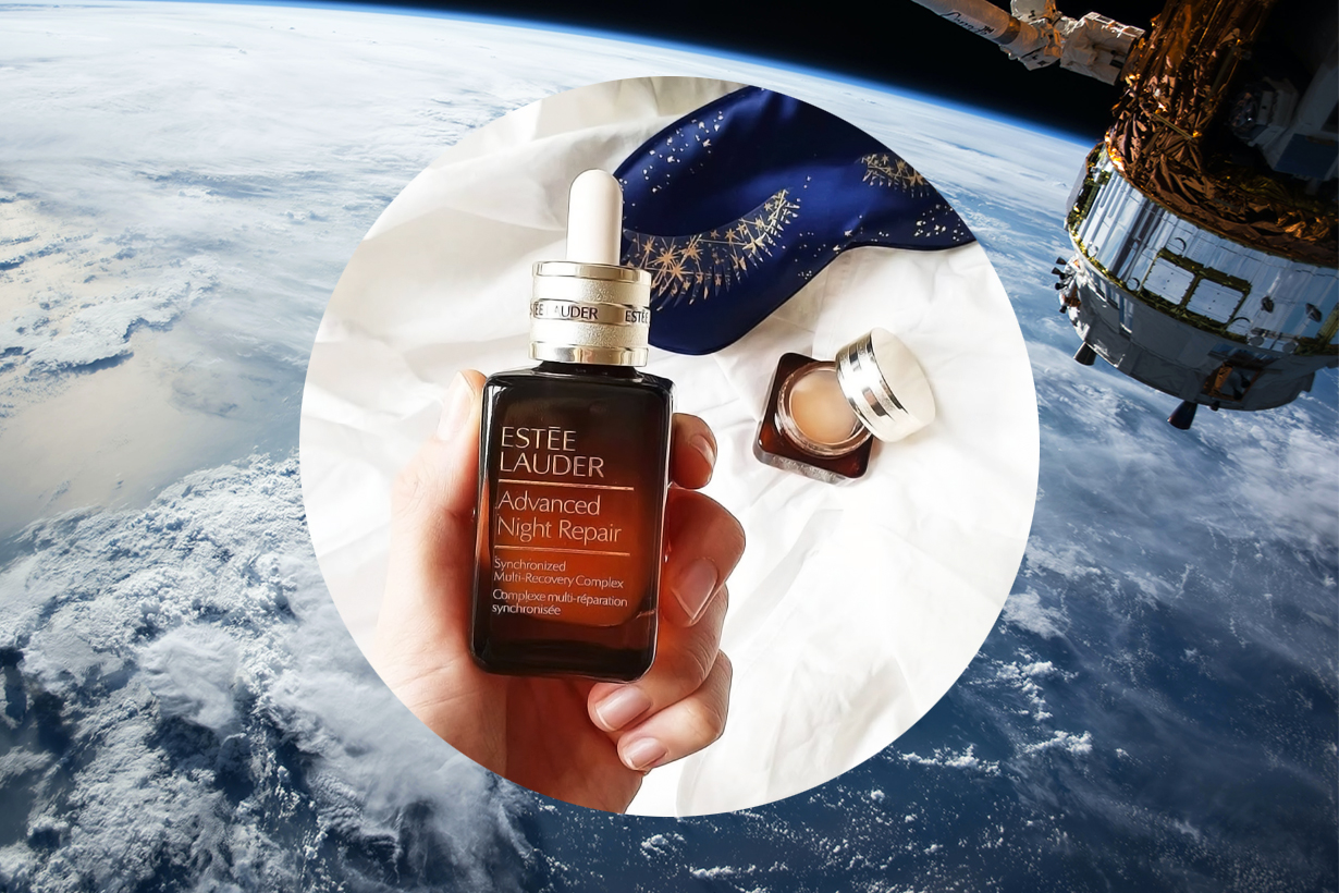 Estēe Lauder Advanced Night Repair  NASA  International Space Station Space Shooting Charity Skincare