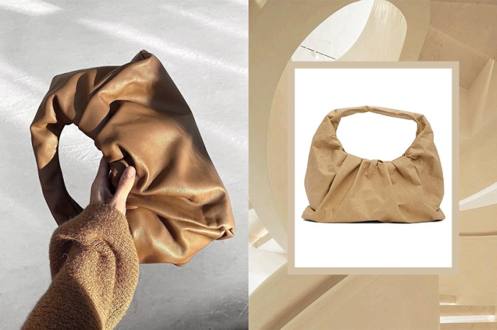 拎紙袋也能很高級,Bottega Veneta經典可頌包推出紙質款式!