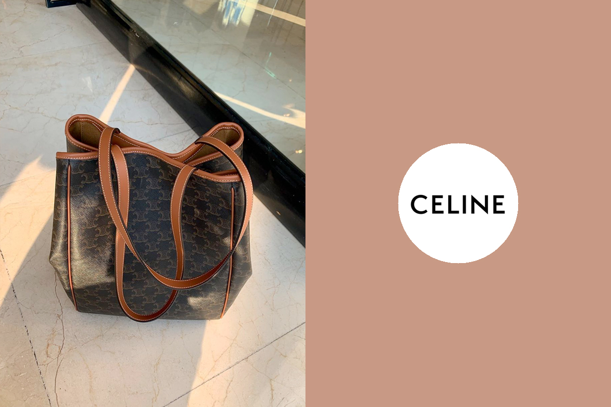 celine cabas folded triomphe canvas 2020 new