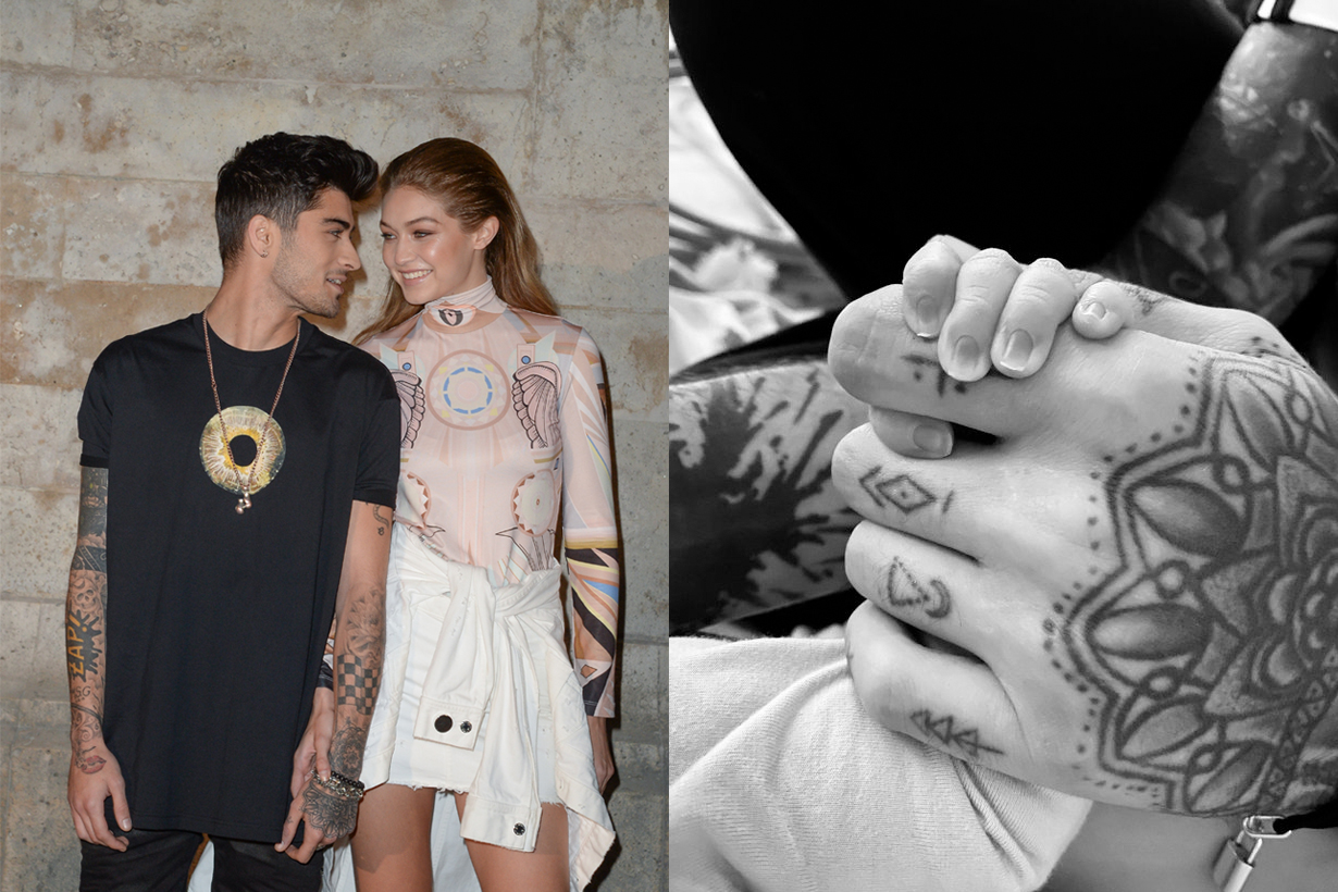 gigi hadid zayn malik first child born