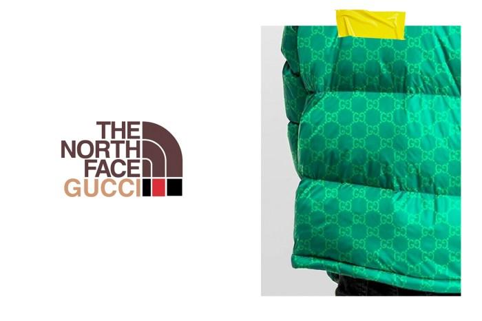 已經曝光?The North Face x Gucci 在網路流出,是印上滿滿 GG Logo 的羽絨外套!