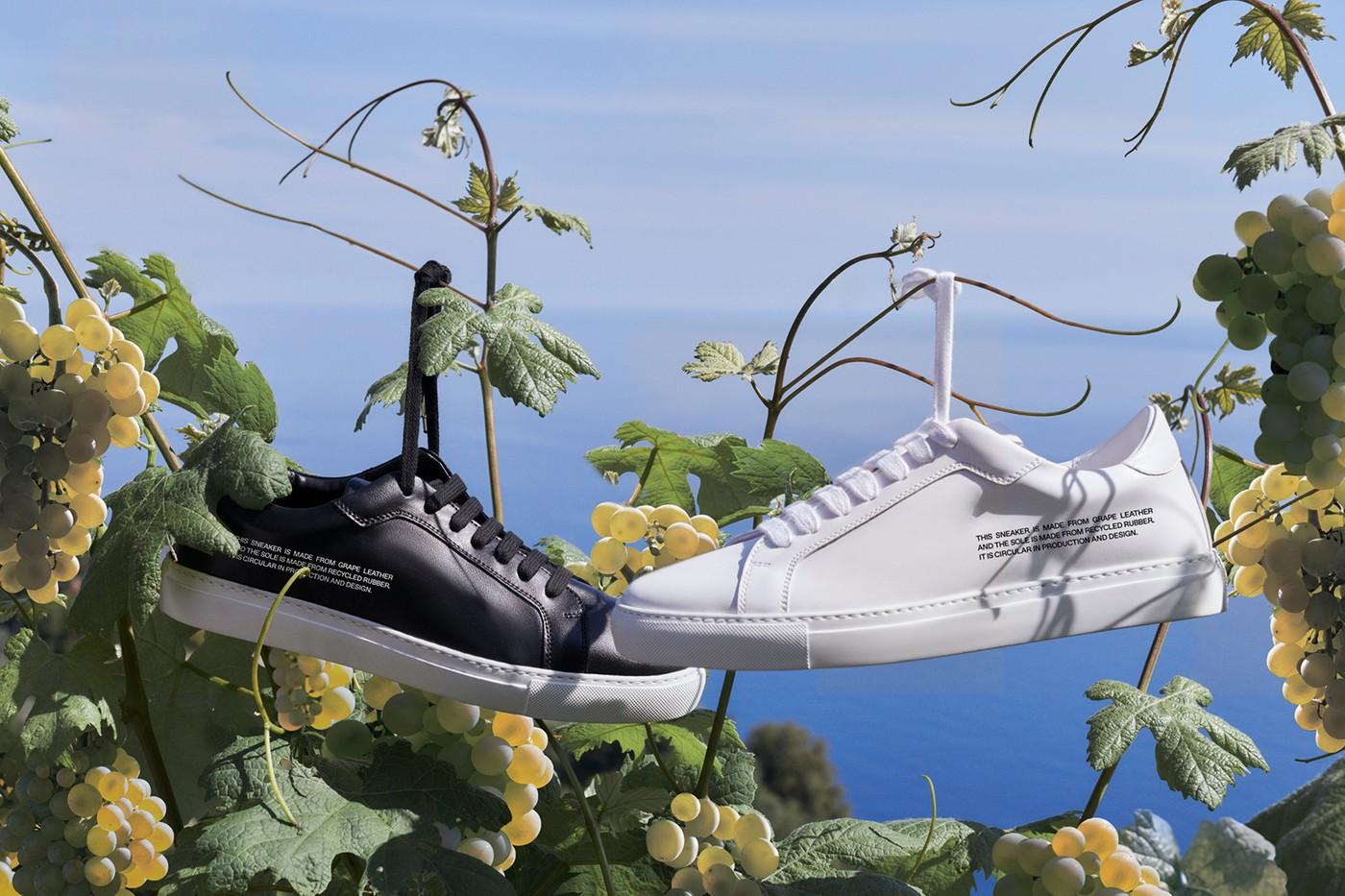 Pangaia sustainability  Environmental Friendly White Black Sneakers