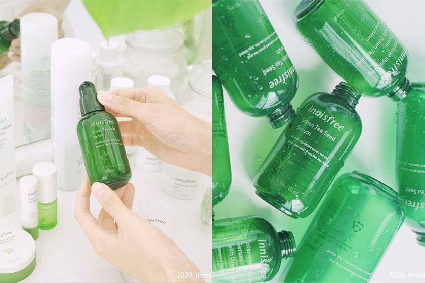 Innisfree green tea seed serum correct way to use
