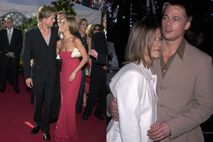 Brad 與 Jennifer 再度同台:一到了互相調情的橋段,自己都忍不住笑意!