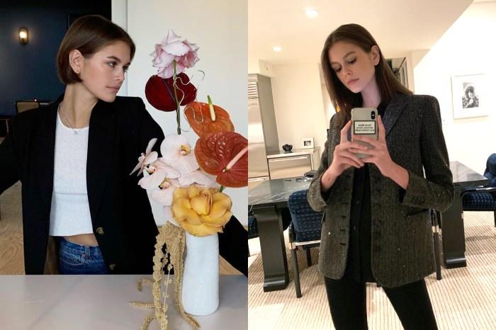 選擇怎樣的西裝外套可以配搭得出神入化?向時尚達人 Kaia Gerber 取經吧!