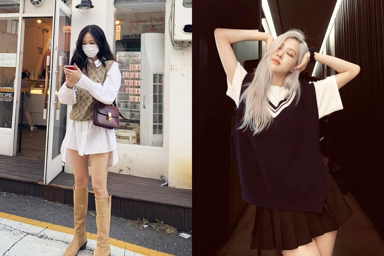 2020 Fall Winter Fashion Trends Sweater Vest Knitted Vest styling tips korean idols celebrities singers