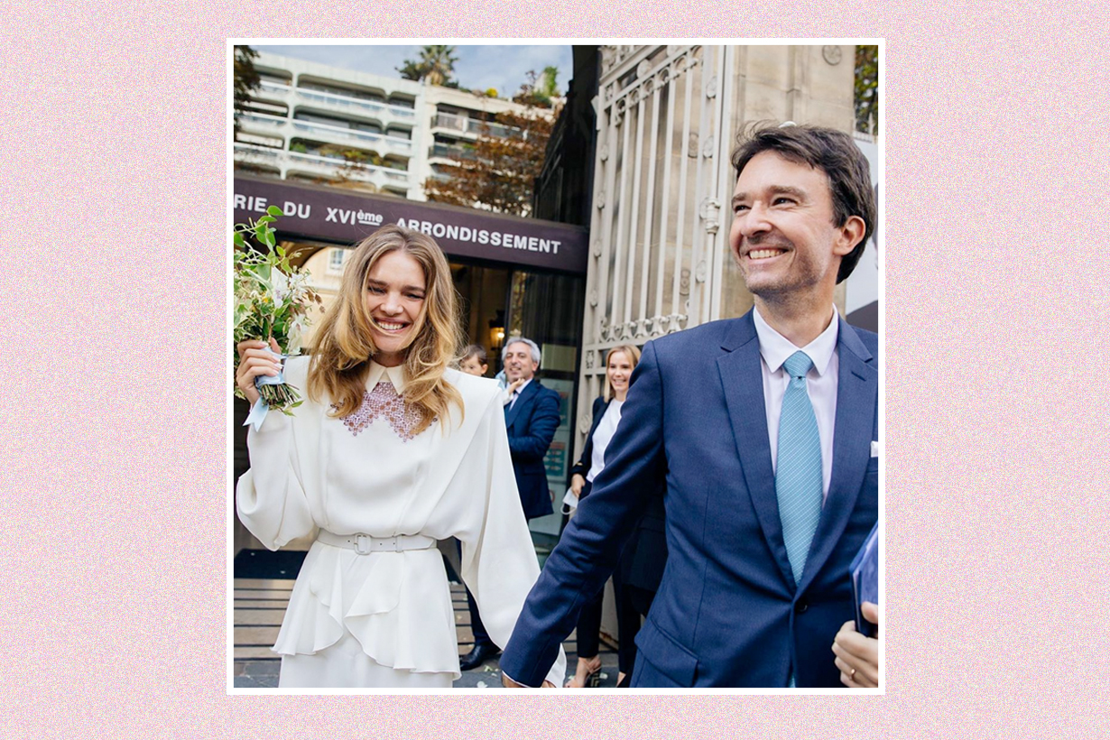Natalia Vodianova wedding dress LVMH Antoine Arnault Ulyana Sergeenko
