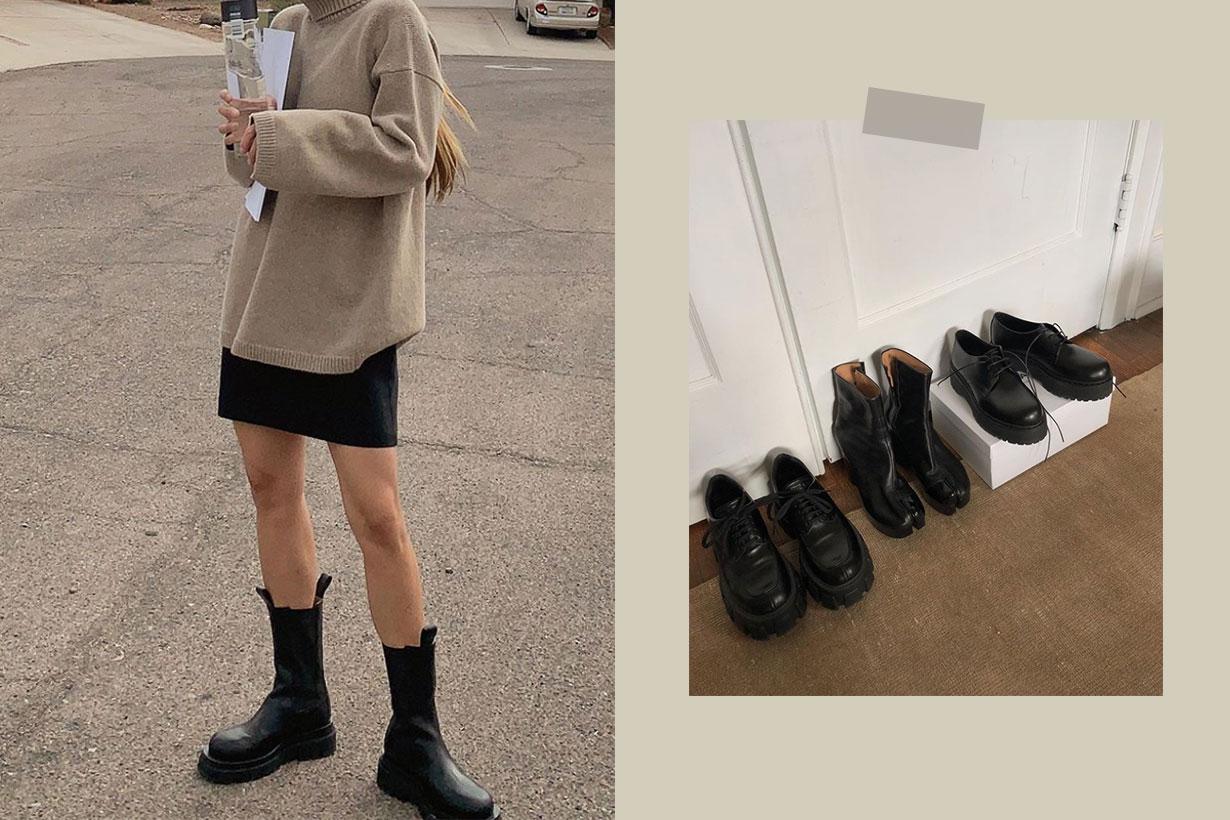 2020 Fall Winter Platform Boots Trend