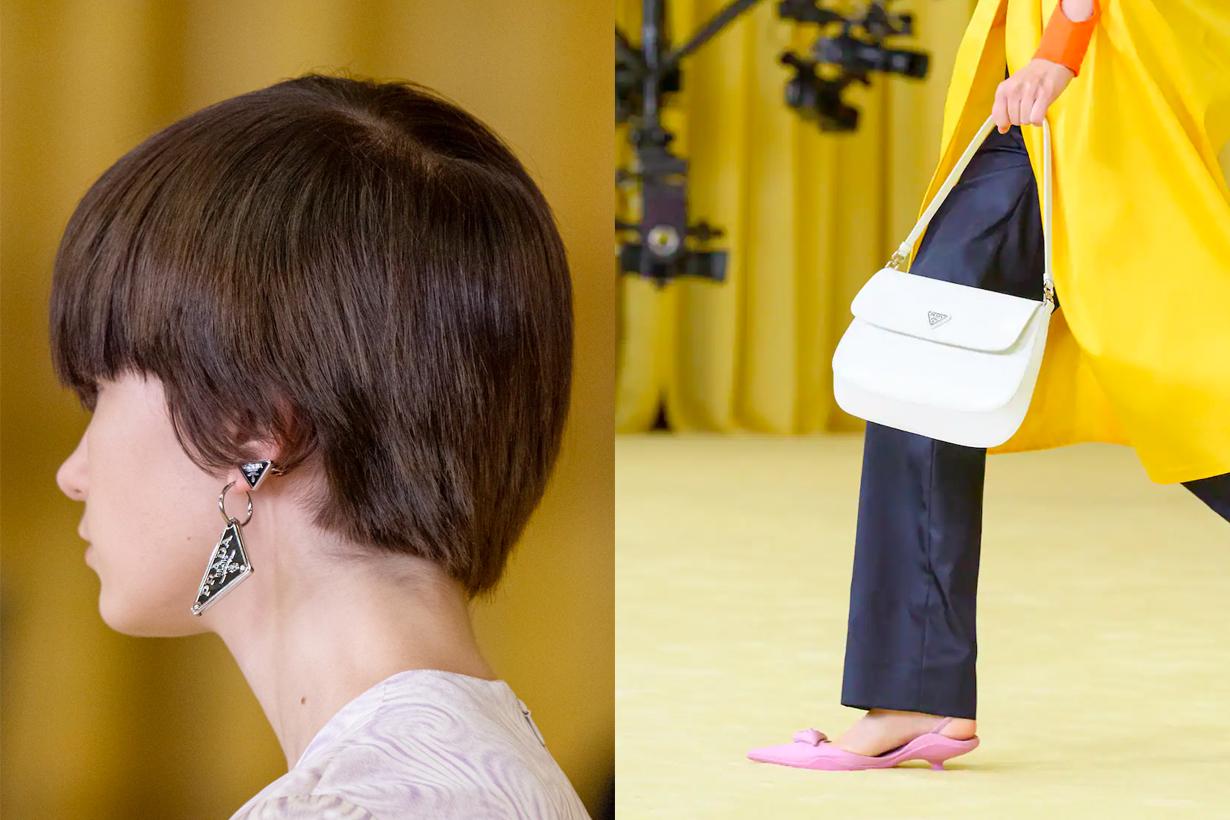 prada mfw raf simons miuccia acc earrings handbags shoes 21 ss