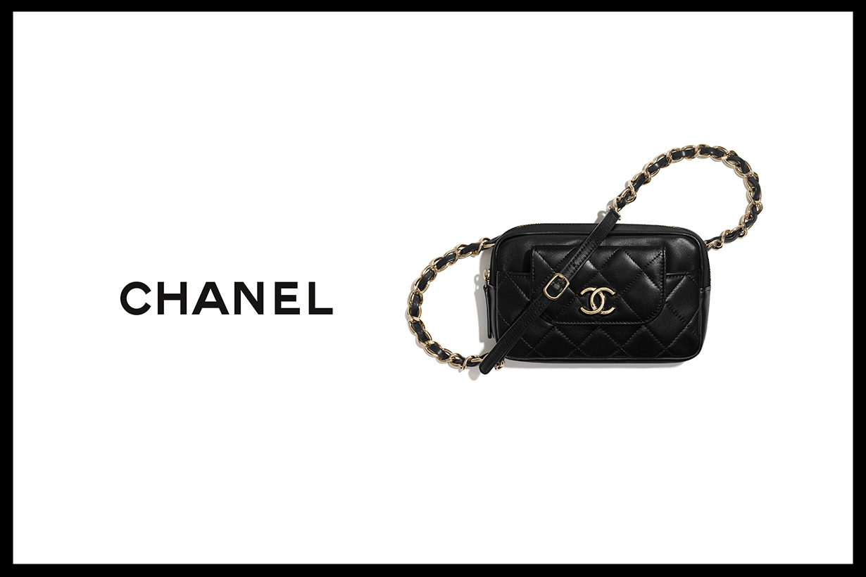 chanel waist bag with card holder 2020