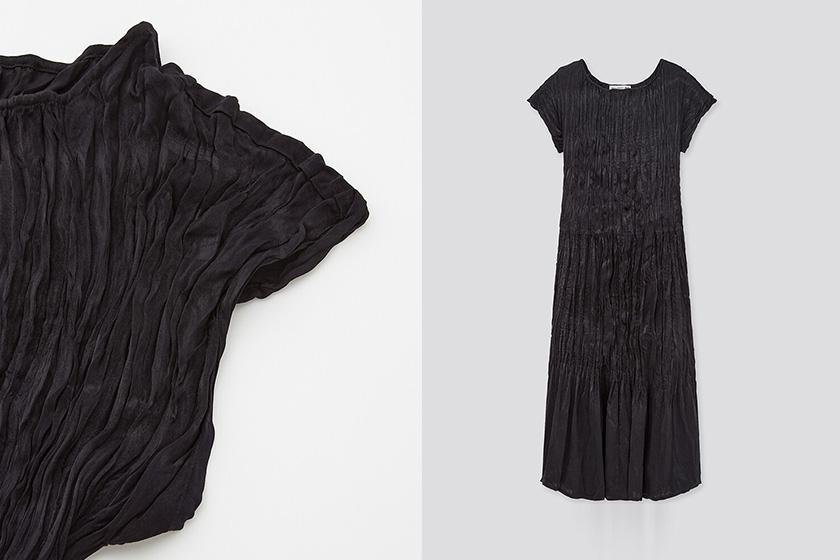 Uniqlo x Inès de La Fressange pleated dress 2020 fw collection