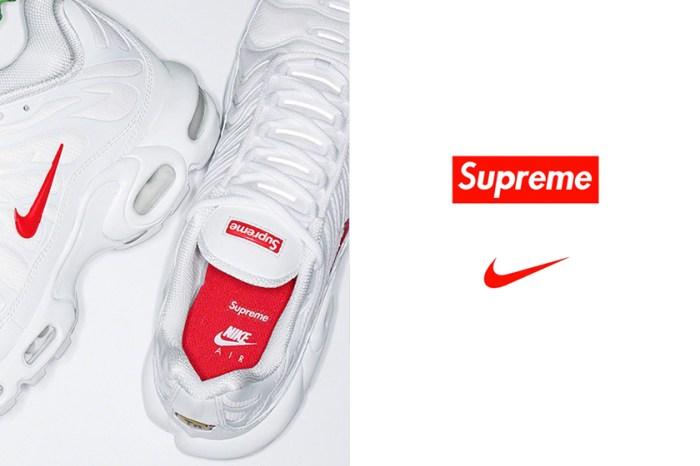 秋冬必入手:Supreme x Nike 再次合作!以經典 Air Max Plus 推出聯名鞋款!