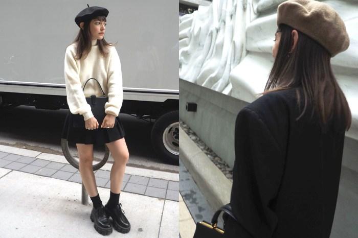 永不過時的貝雷帽,可以讓你的秋冬造型注入一點法式美感!