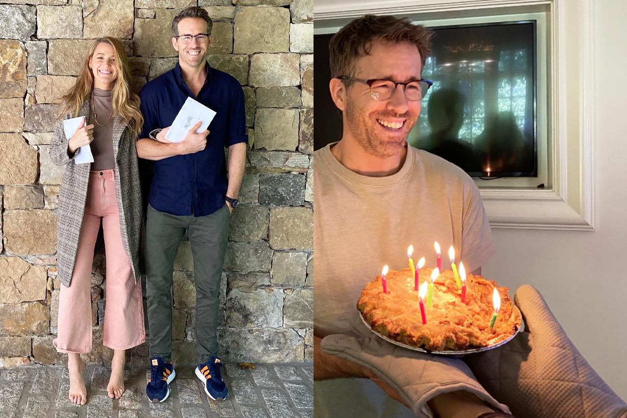 Blake Lively Ryan Reynolds Birthday Pie Birthday Celebration First time voting in America Presidential Vote 2020 US Election