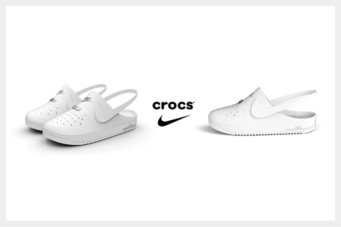 波鞋後側消失一半,Nike 竟然與 Crocs 合作推出 Air Force 1 涼鞋?