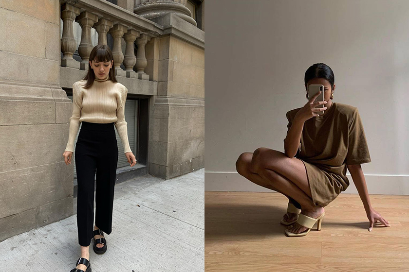 padded tee outfits fashion trend 2020