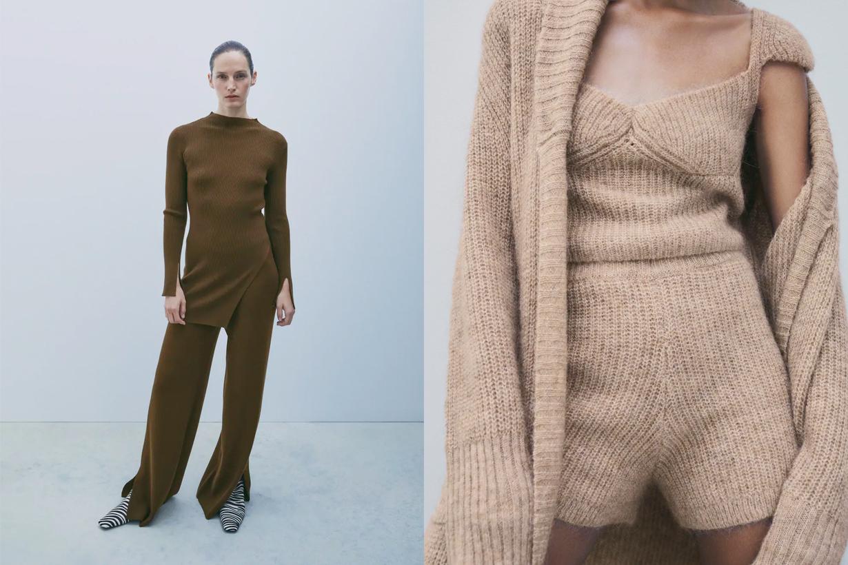 zara knitwear total look fall winter chic style
