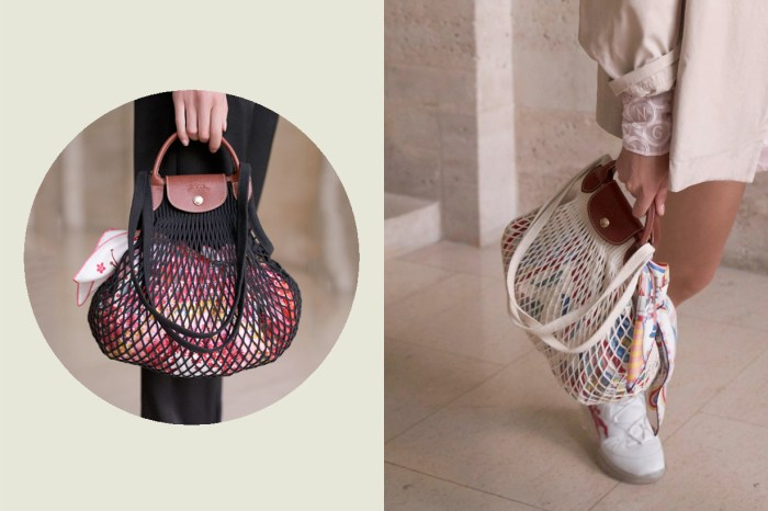最時髦的菜市場包,Longchamp 把經典尼龍 Le Pliage 變成了網袋!
