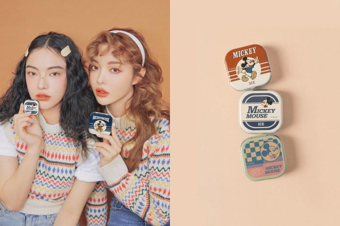 最懂女生心:3CE 推出米奇鐵盒化妝品,成手袋裡最吸睛的補妝小物!