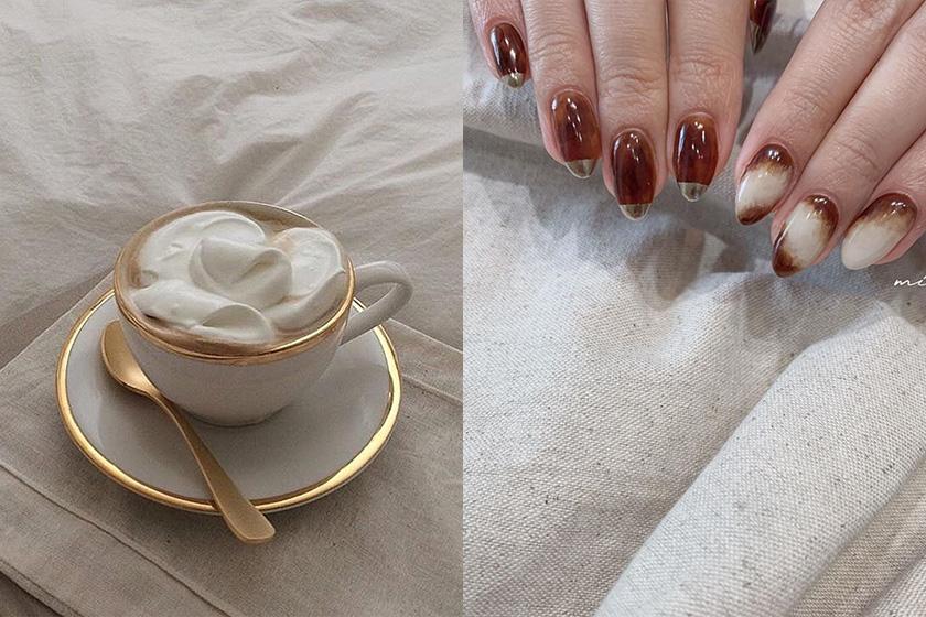 japanese girl latte nail instagram 2020 fw