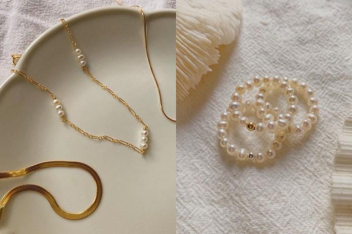 英國小眾飾品用銀飾與珍珠,輕描淡寫的說著那不刻意的美!