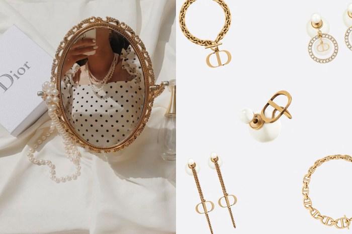 負擔不了手袋也無妨,將 Dior 新上架絕美耳環、手鍊收進飾品盒!