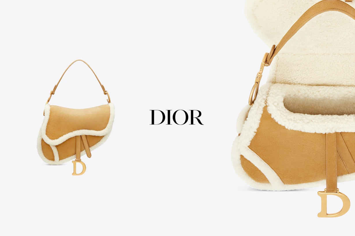 dior saddle handbags shearling 2020 fw new