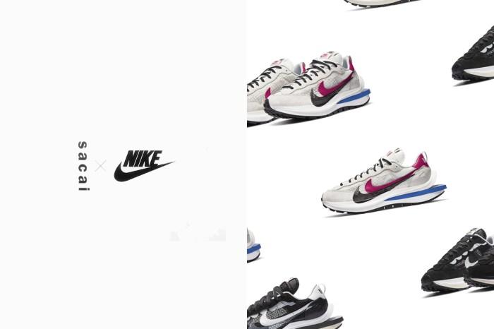 Sacai x Nike VaporWaffle 台灣定價確認,11 月可以買到的這兩個配色!