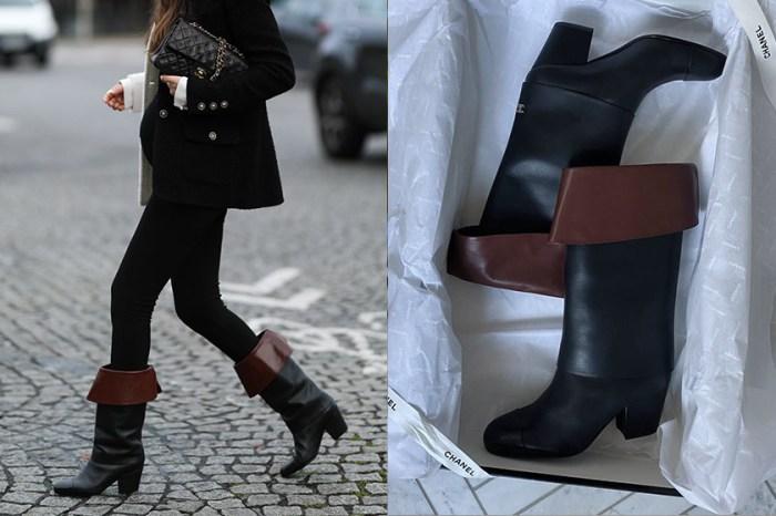 Chanel 雙色反摺中筒靴,時髦博主都穿它造成搜尋量大增!