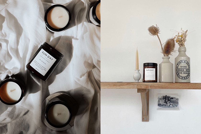 SUNDAY of London Scent Candles Home Fragrances