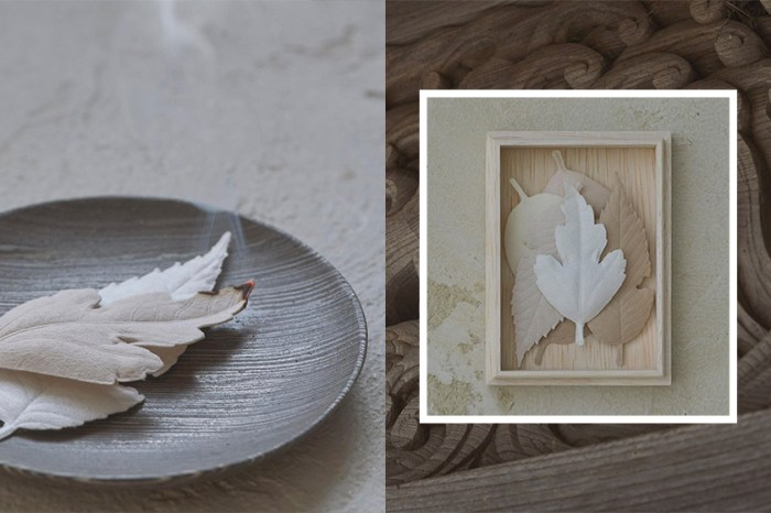 來自日本的小眾品牌:看似優美的葉形紙片,其實是充滿詩意的居家薰香!