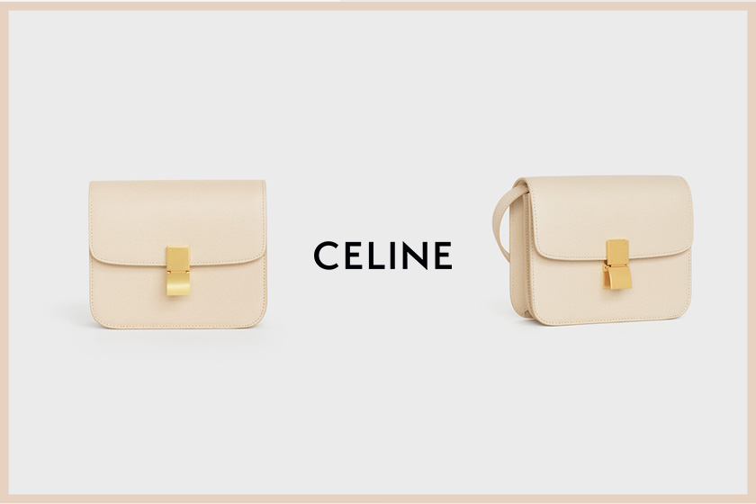 Celine teen classic bag in calfskin liege handbags 2020 fw