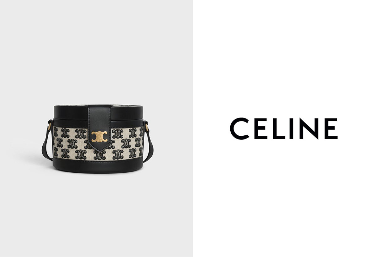 Celine: New Black Triomphe Embroidery Collection