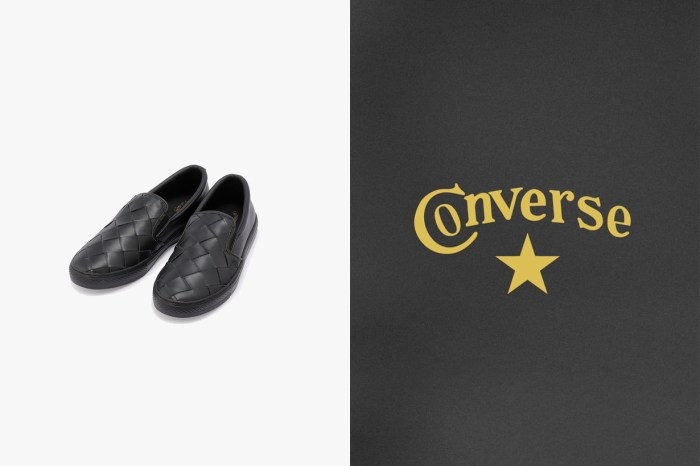 Converse 這雙皮革編織懶人鞋剛推出,一秒被粉絲們稱是平價版 BV!