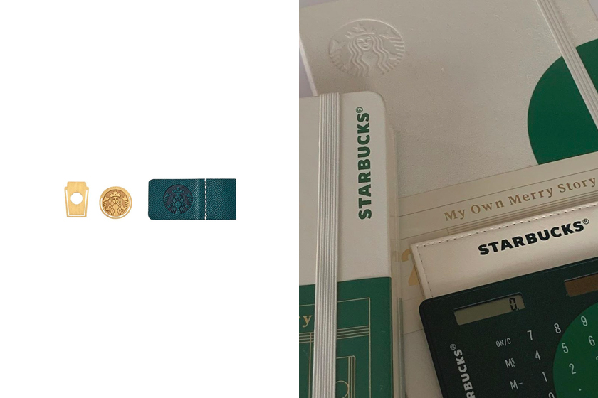 2020 Starbucks Korea Holiday Diary Deco Sticker Set Christmas