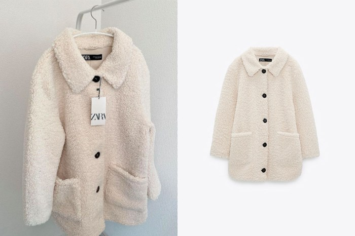 正在大減價:Zara 這一件絨毛鈕扣外套,令日韓女生默默搶貨!