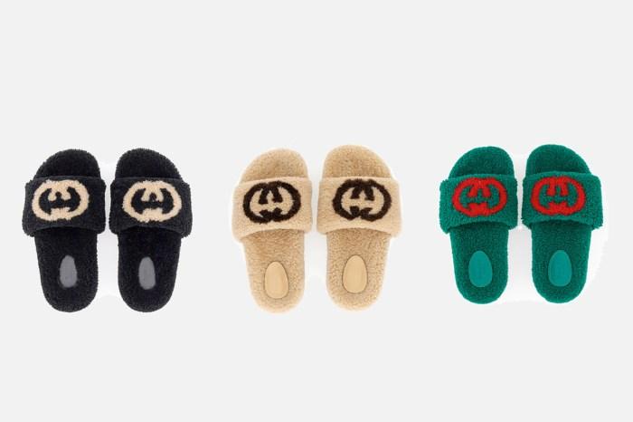 一眼吸睛:Gucci 聖誕推出毛毛拖鞋,還有貼心的增高細節!