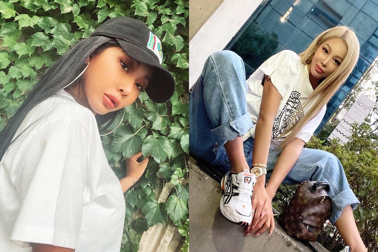 Jessi bjewel korean skincare Pink Aloe cleanser glow mist moisture cream sun cream korean idols celebrities singers rapper