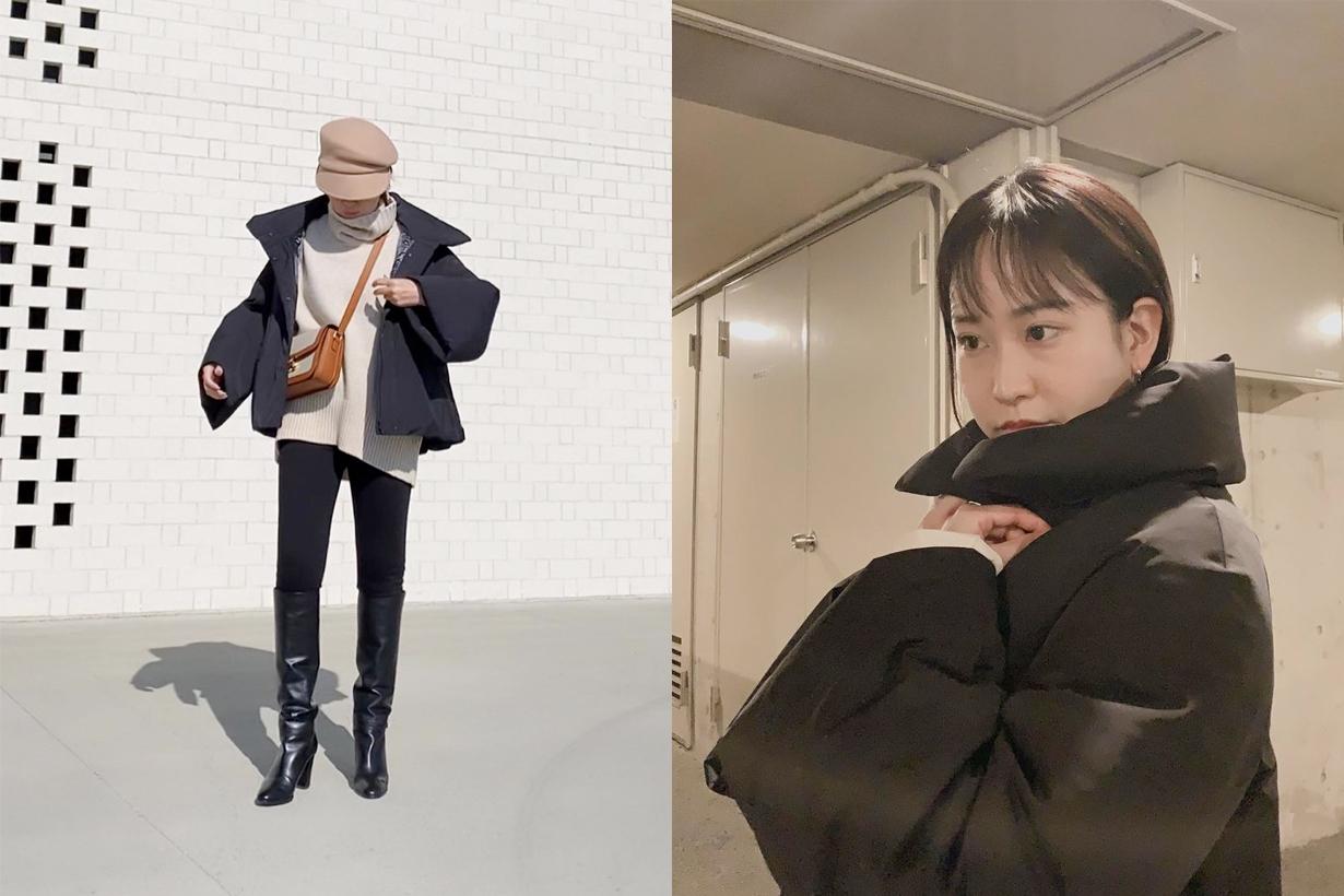 uniqlo +j plus j down jackey hybrid japanese girl