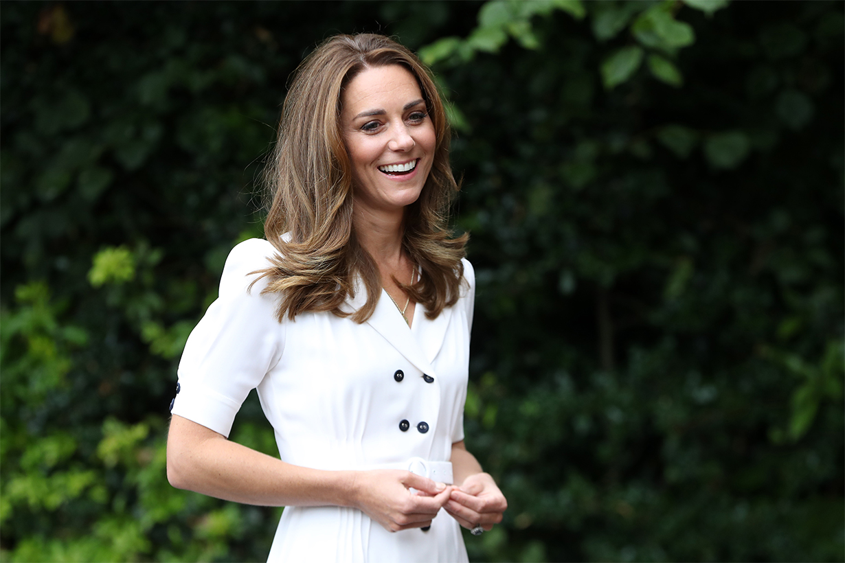 Kate Middleton Is Prim and Polished in a Peter Pan Collar for Her Latest Virtual Engagement