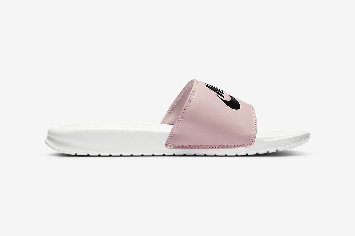 NIKE DRESSES ITS CLASSIC BENASSI JDI SLIDE IN PASTEL PINK