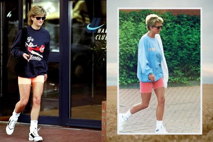 戴安娜王妃也有隨性時!她的衛衣造型竟是如此經典又時尚!