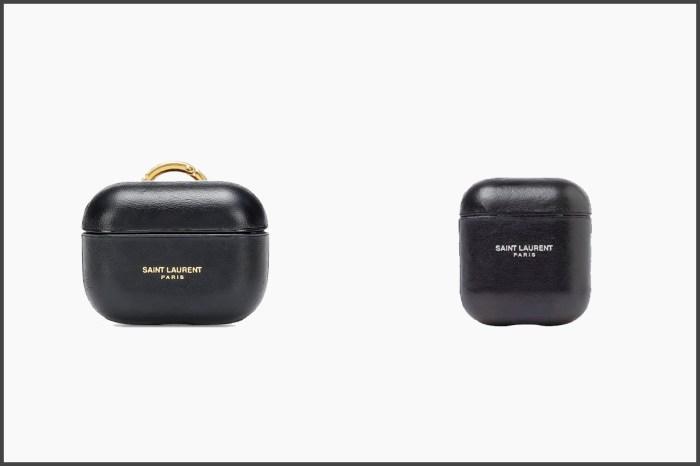 質感皮革燙金,Saint Laurent AirPods Case 把經典變成時髦小配件!
