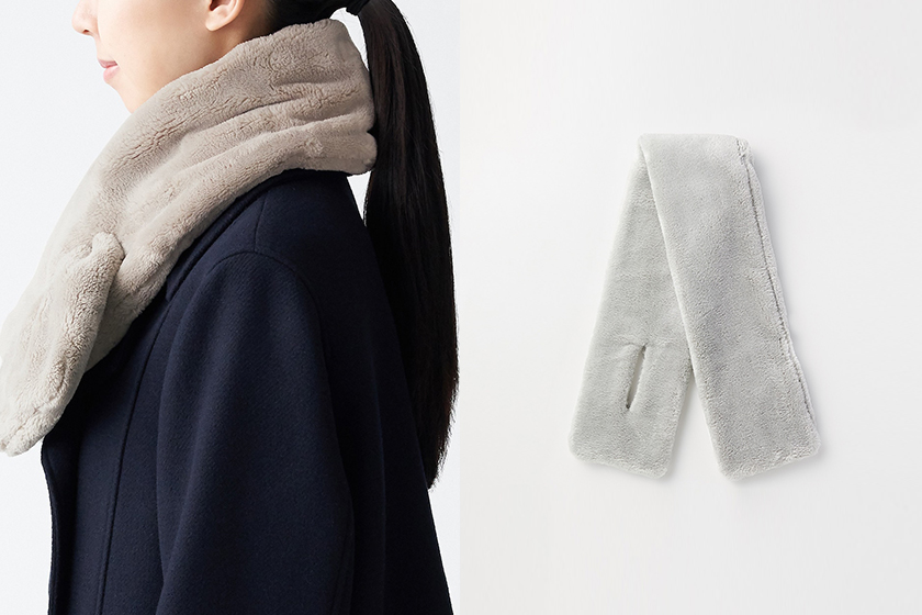 MUJI fleece scarf
