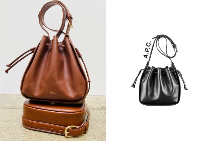 新手袋登場:即使是屢見不鮮的水桶包,A.P.C. 也添了不一樣的細節!