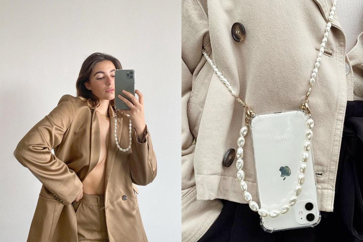 Ateljé crossbody phone case pearl instagram Yara Michels