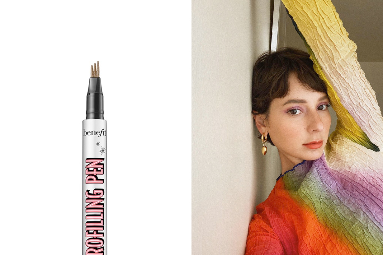 benefit cosmetics microfilling brow pen new easy fill natural