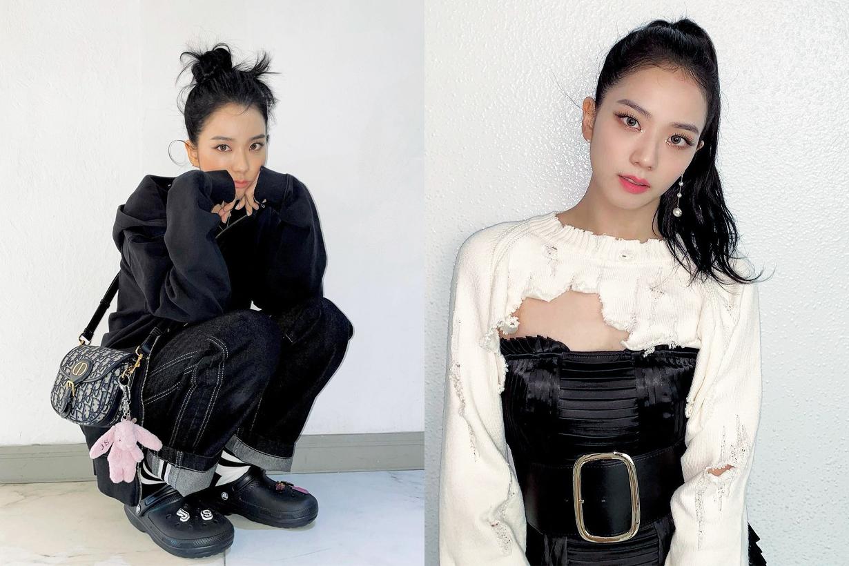 BLACKPINK Jisoo Rose Jennie Lisa Snowdrop Coffee Truck Dior Soft Saddle Bag Dior Men Korean idols celebrities singers girl bands actresses