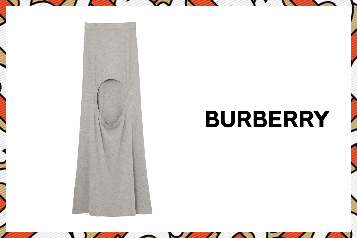 Burberry 2020 Spring Summer Long step-through skirt fashion items fashion statement 2019 London Fashion Week LFW