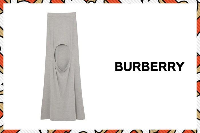 這個洞該露哪位置?Burberry 這條半截長裙原來是長腿女生必備!